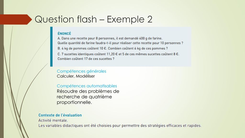 Question flash – Exemple 2