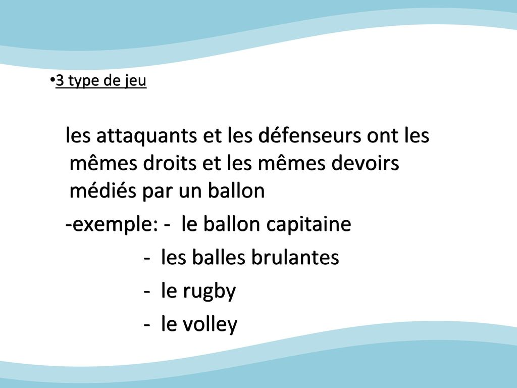 balle au capitaine cycle 3