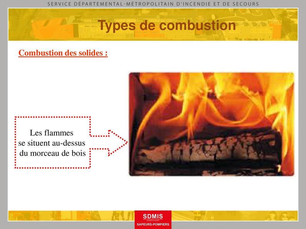Cadet te s de la s curit civile ppt t l charger for Les types de combustion