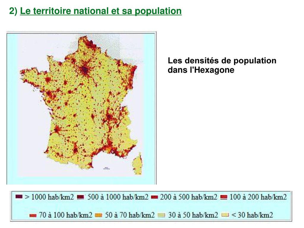 2) Le territoire national et sa population
