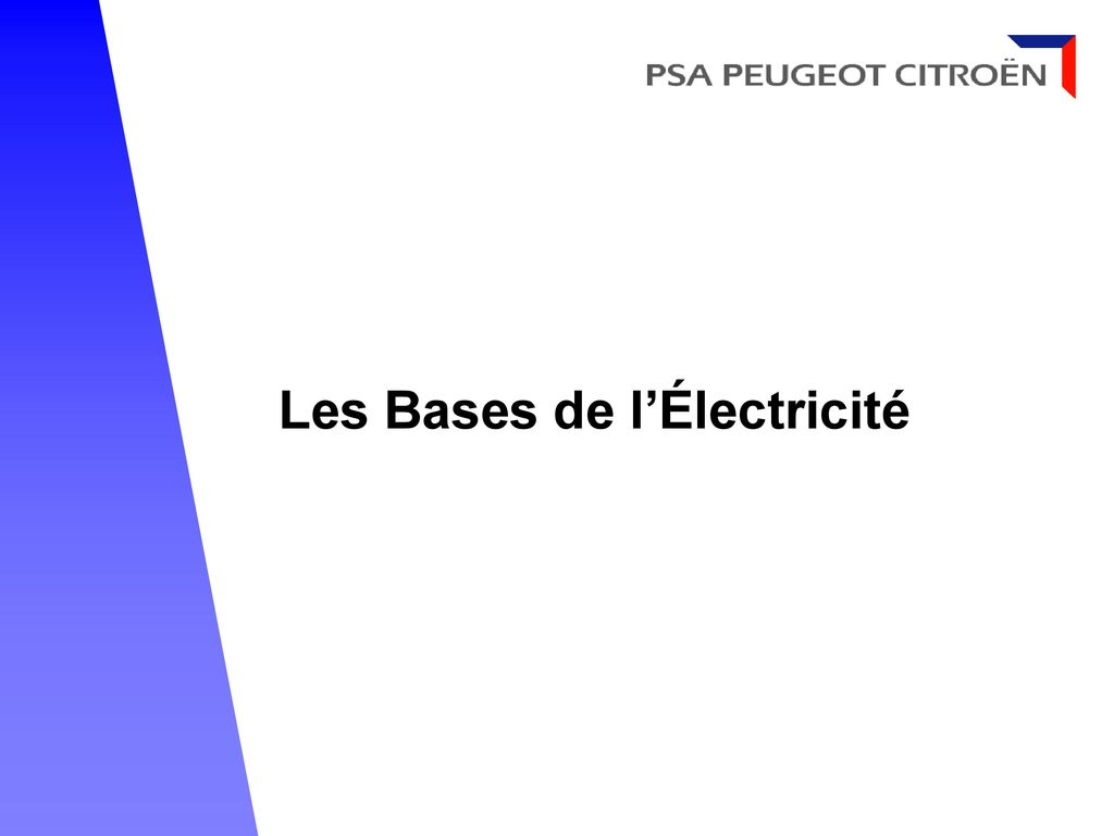 les bases de l lectricit ppt video online t l charger