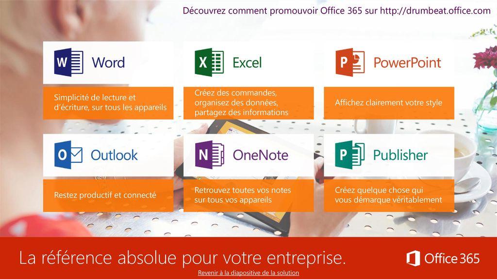 Utilisation de la pr sentation ppt t l charger - Comment installer office 365 sur ipad ...