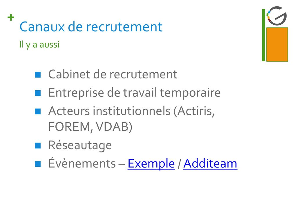 Les canaux de recrutement ppt video online t l charger - Cabinet de recrutement informatique paris ...