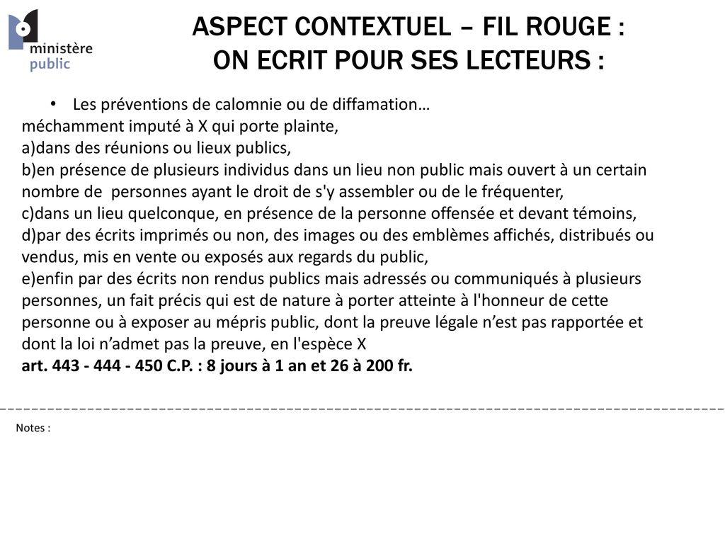 Ministere public ppt t l charger - Porter plainte pour calomnie et diffamation ...