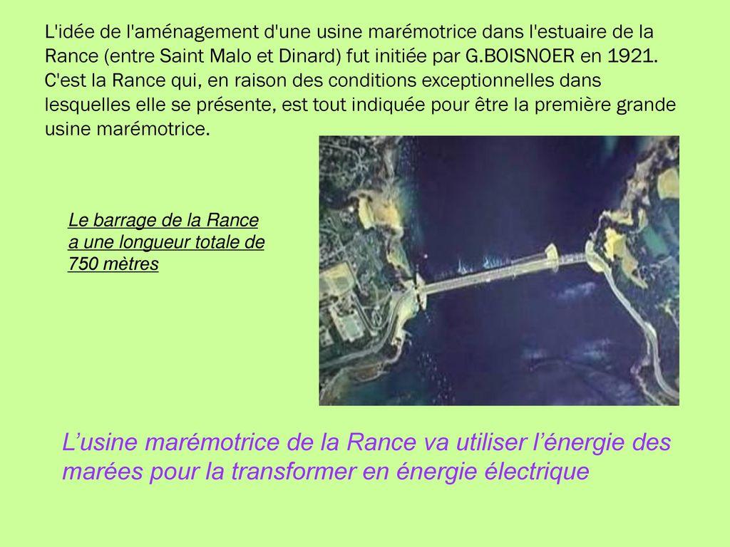 L usine mar motrice de la rance ppt t l charger for Estuaire de la rance