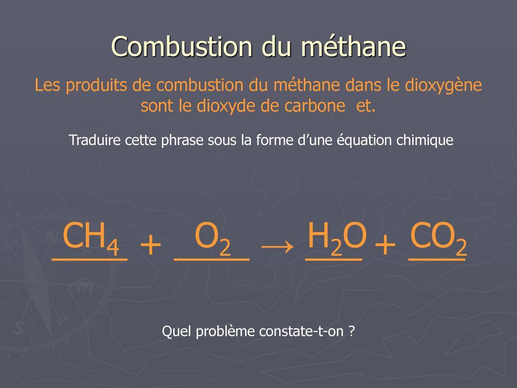 Construire une mol cule de m thane l aide du mod le - Dioxyde de carbone danger ...