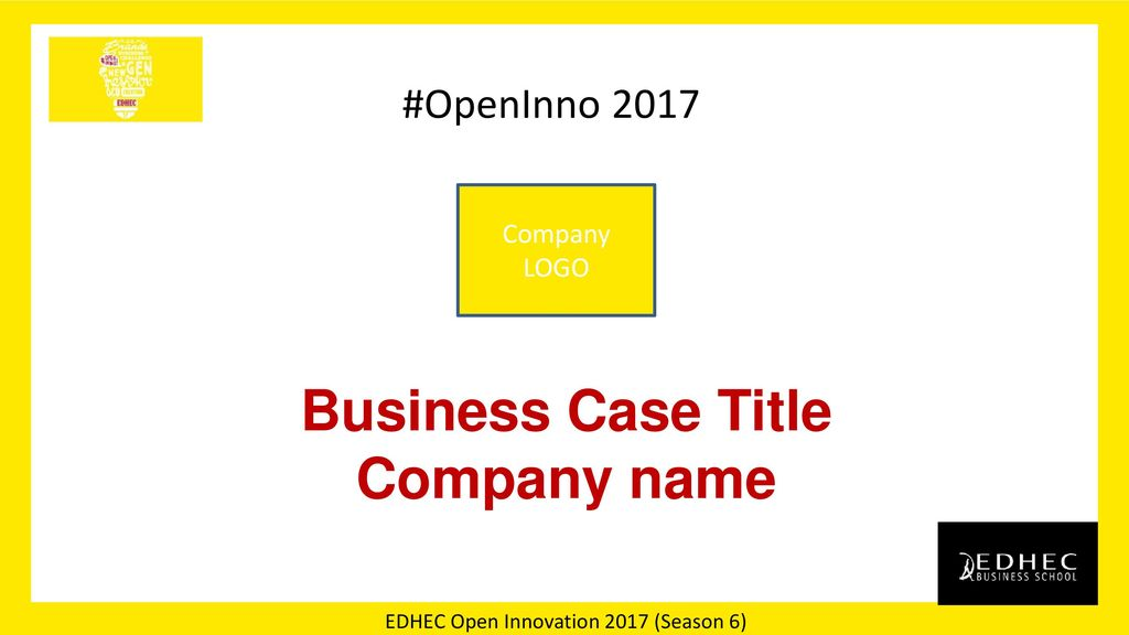 Business Case Title Company name