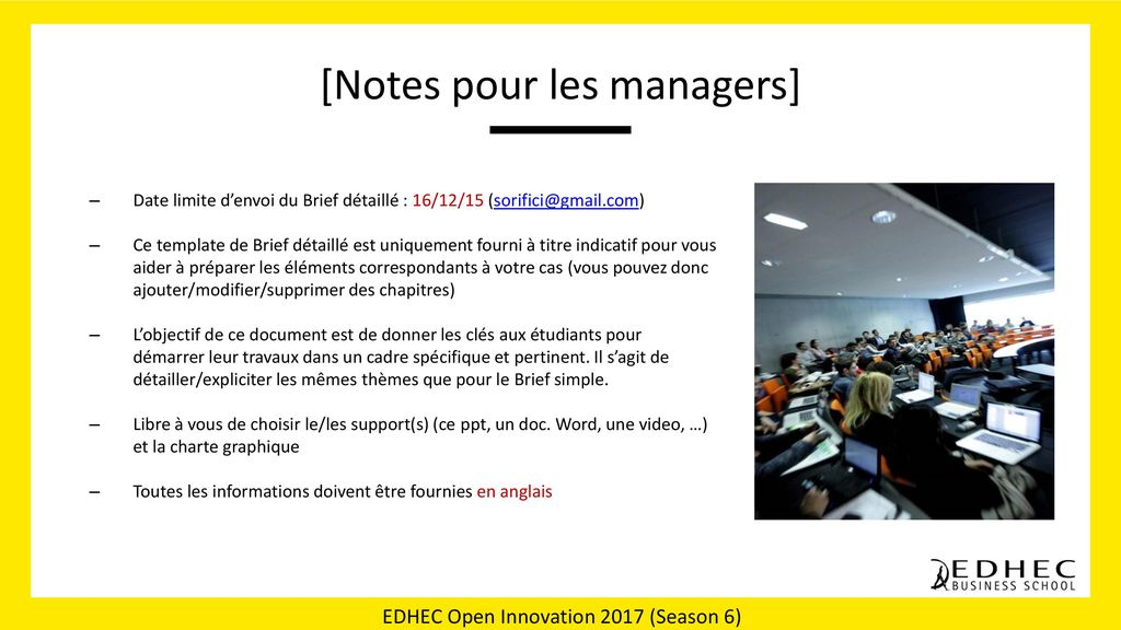 [Notes pour les managers]