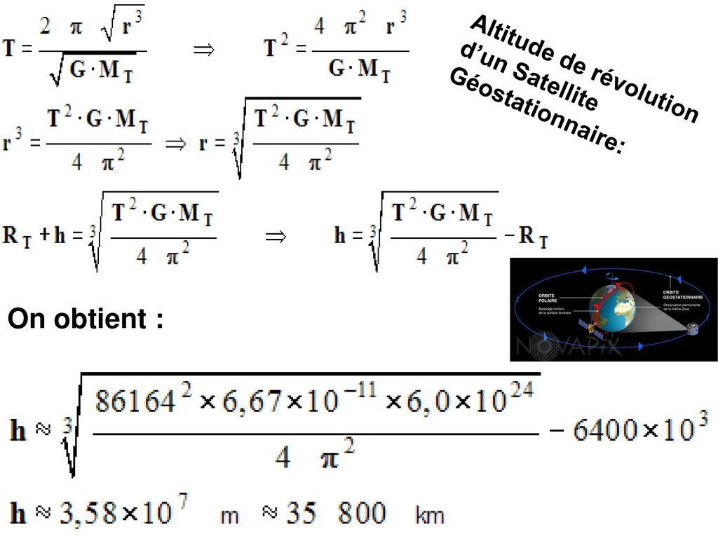 Altitude de révolution d'un Satellite Géostationnaire: