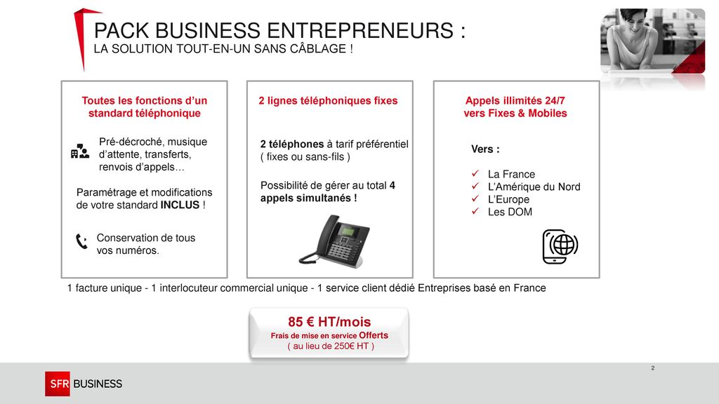 Pack business entrepreneurs : La solution Tout-en-Un sans câblage !