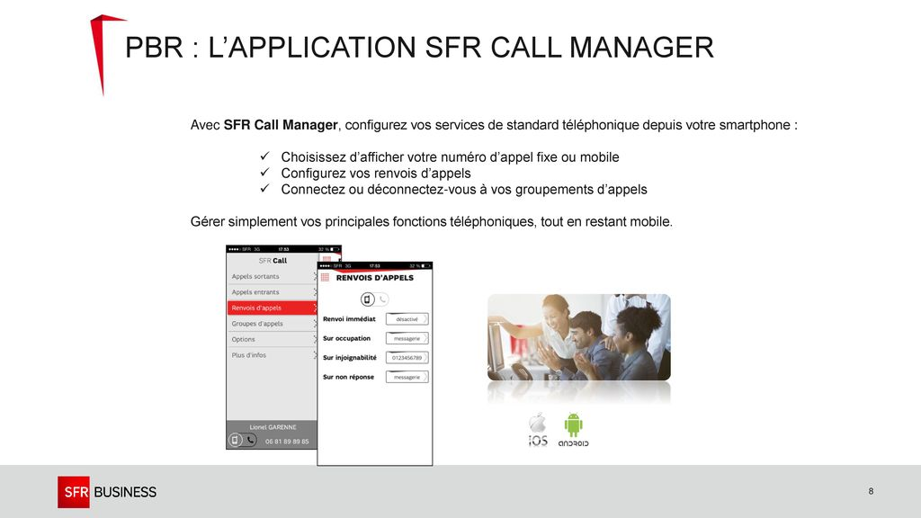 PBR : l'application SFR Call Manager