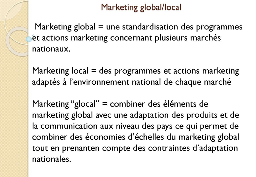 Marketing global/local