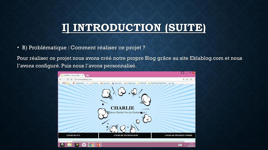 I] INTRODUCTION (suite)