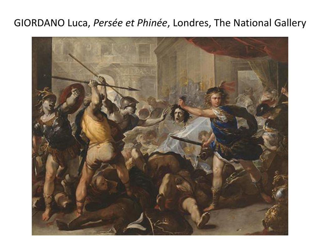 GIORDANO Luca, Persée et Phinée, Londres, The National Gallery