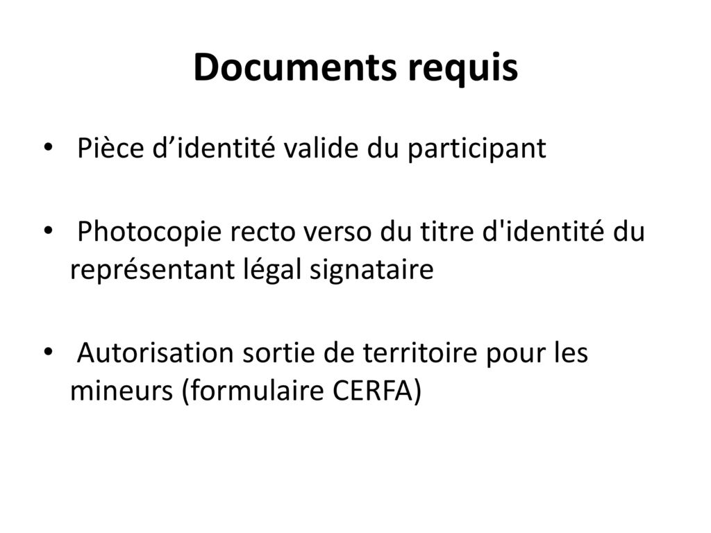 documents voyage angleterre