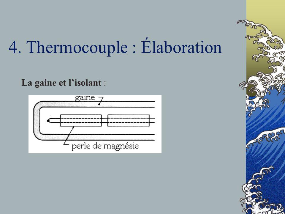 4. Thermocouple : Élaboration
