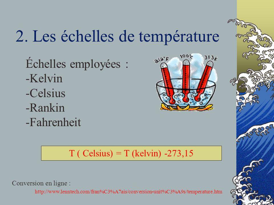 2. Les échelles de température