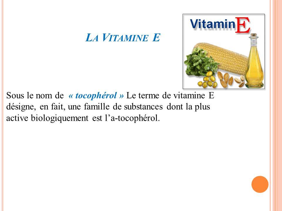 La Vitamine E