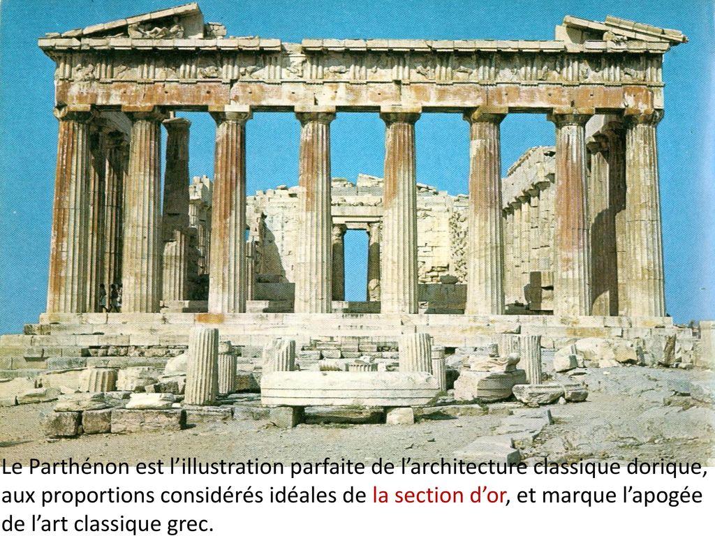 L architecture le temple grec ppt t l charger for Architecture classique definition