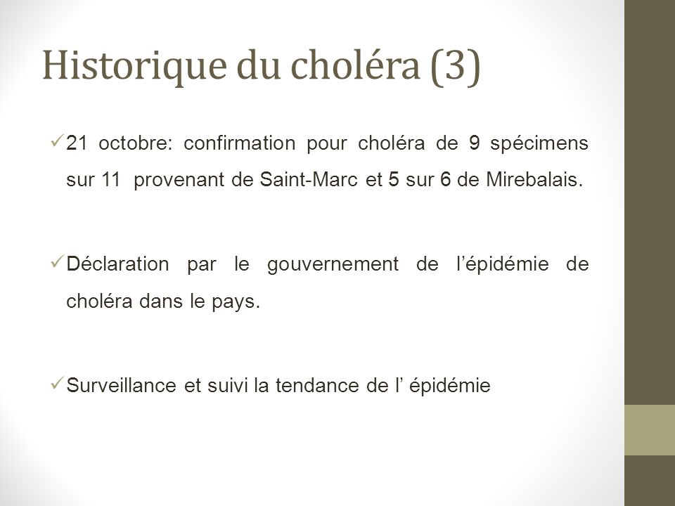 Historique du choléra (3)