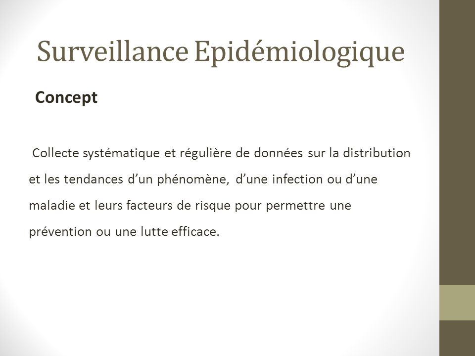 Surveillance Epidémiologique
