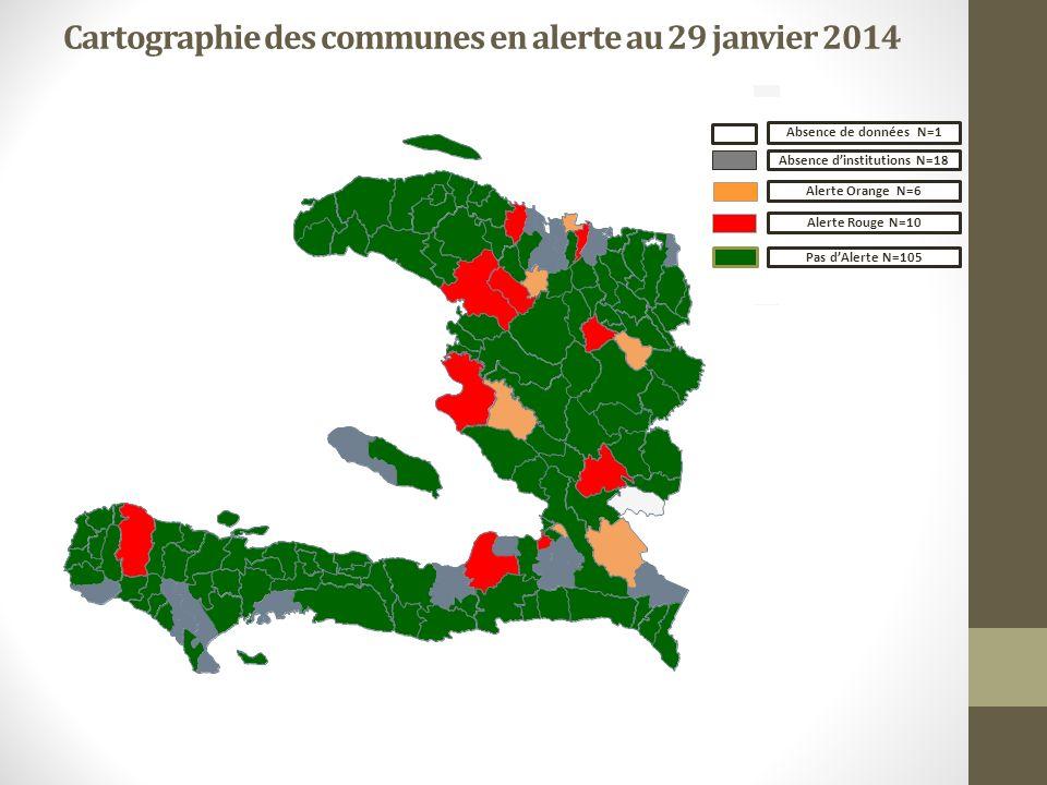 Cartographie des communes en alerte au 29 janvier 2014