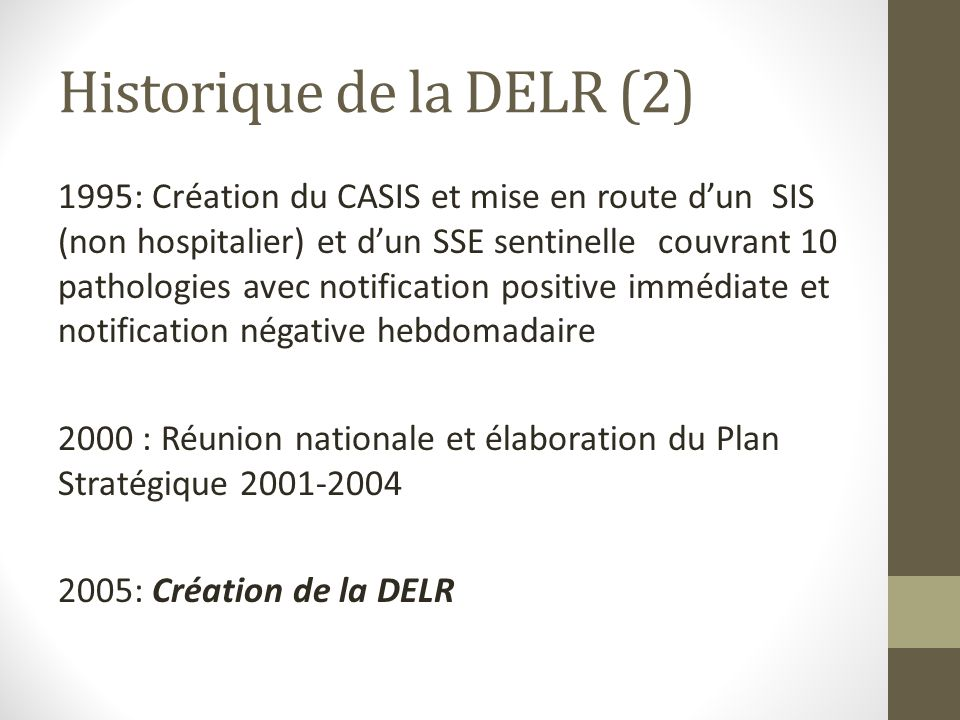 Historique de la DELR (2)