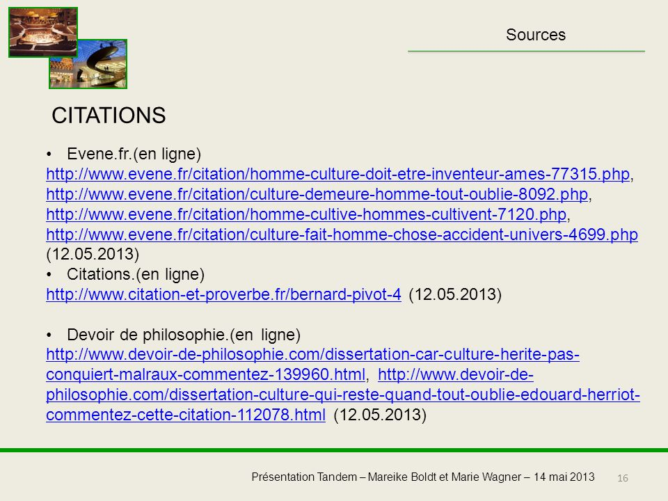 CITATIONS Sources Evene.fr.(en ligne)