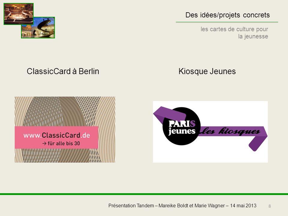ClassicCard à Berlin Kiosque Jeunes