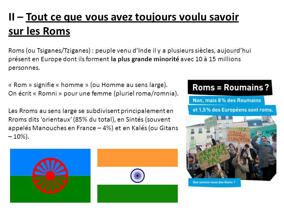 II – Tout ce que vous avez toujours voulu savoir sur les Roms