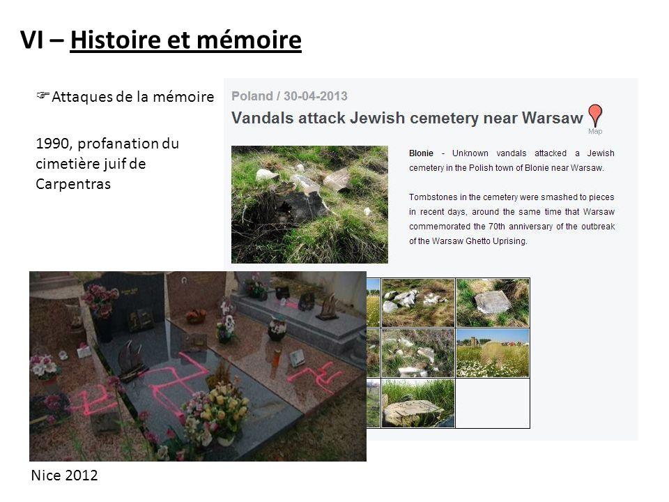 VI – Histoire et mémoire