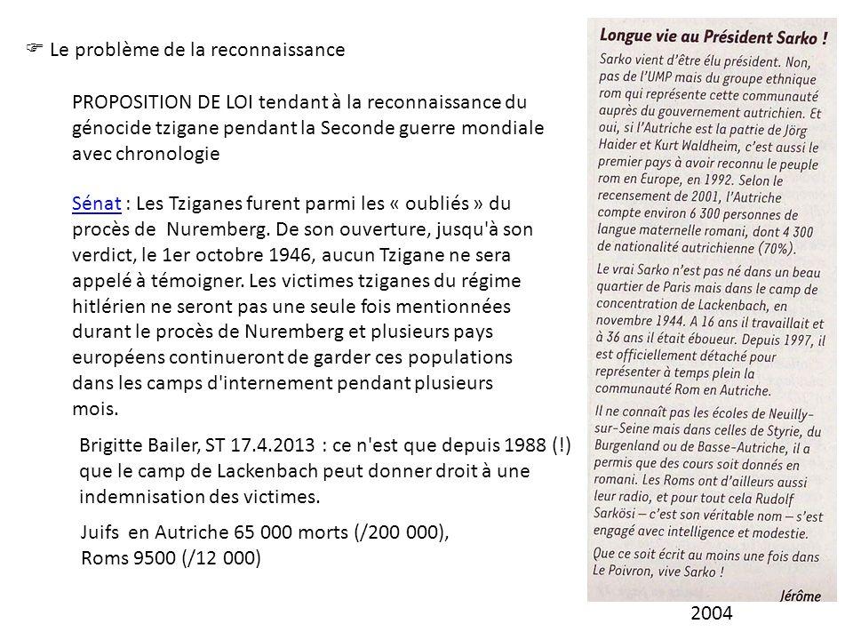 2004  Le problème de la reconnaissance.