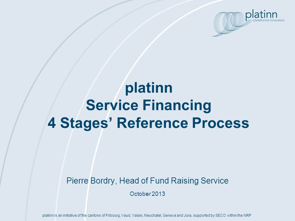 platinn Service Financing 4 Stages' Reference Process