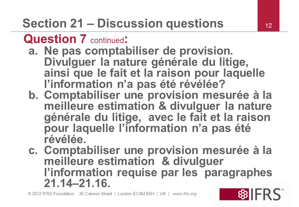 Section 21 – Discussion questions