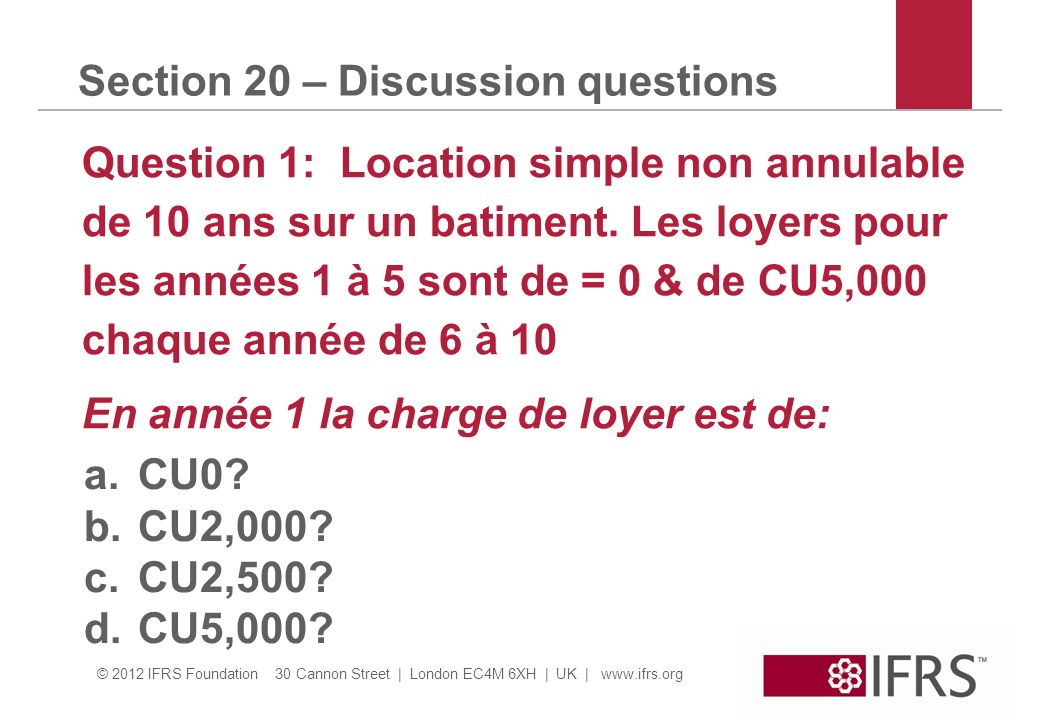 Section 20 – Discussion questions