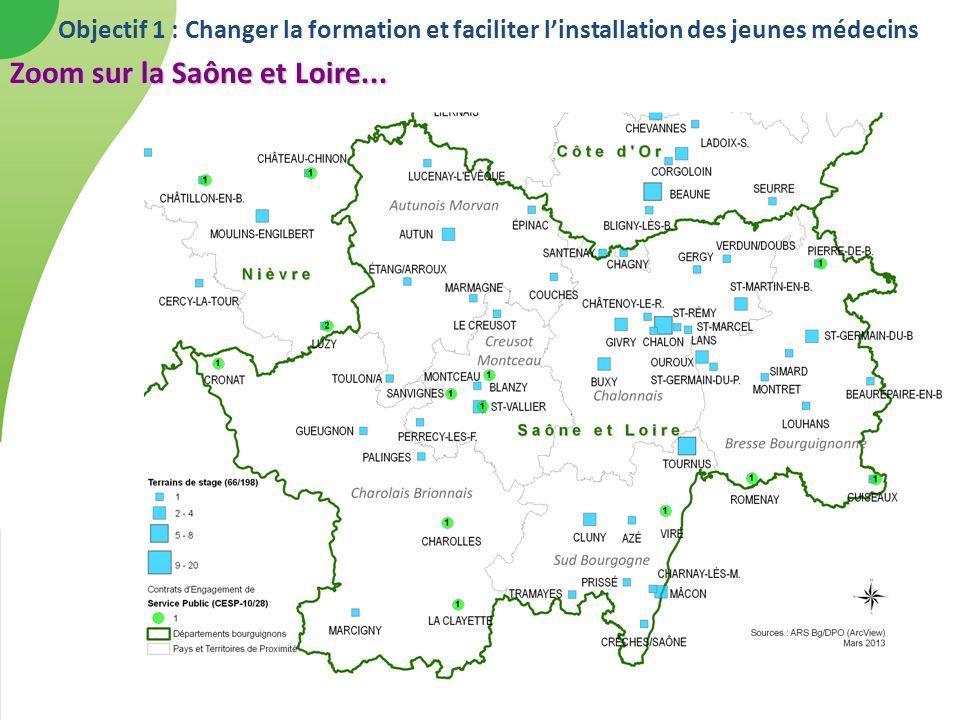 Zoom sur la Saône et Loire...