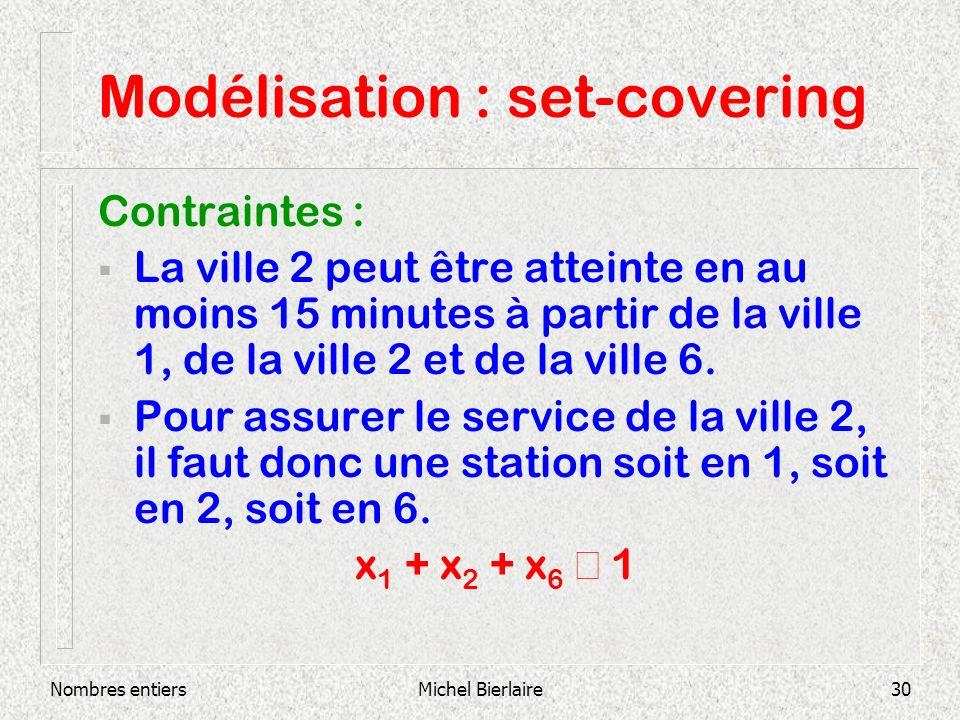 Modélisation : set-covering