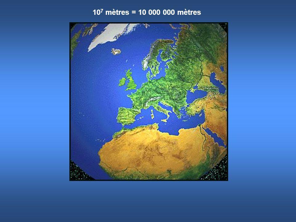 107 mètres = 10 000 000 mètres