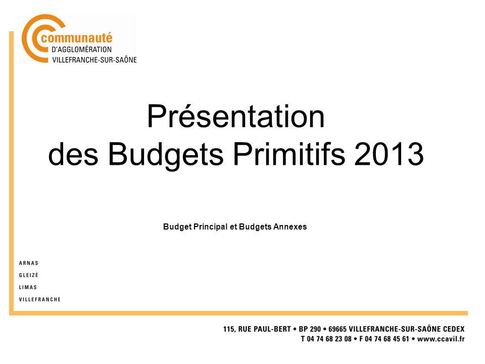 Présentation des Budgets Primitifs 2013