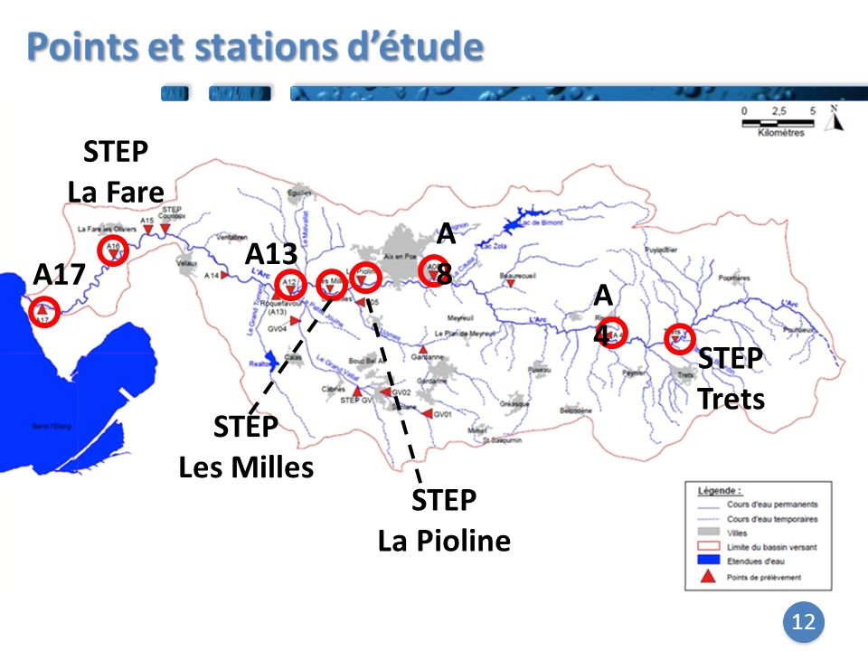 Points et stations d'étude