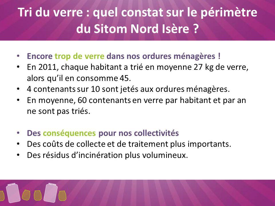 Tri du verre : quel constat sur le périmètre du Sitom Nord Isère