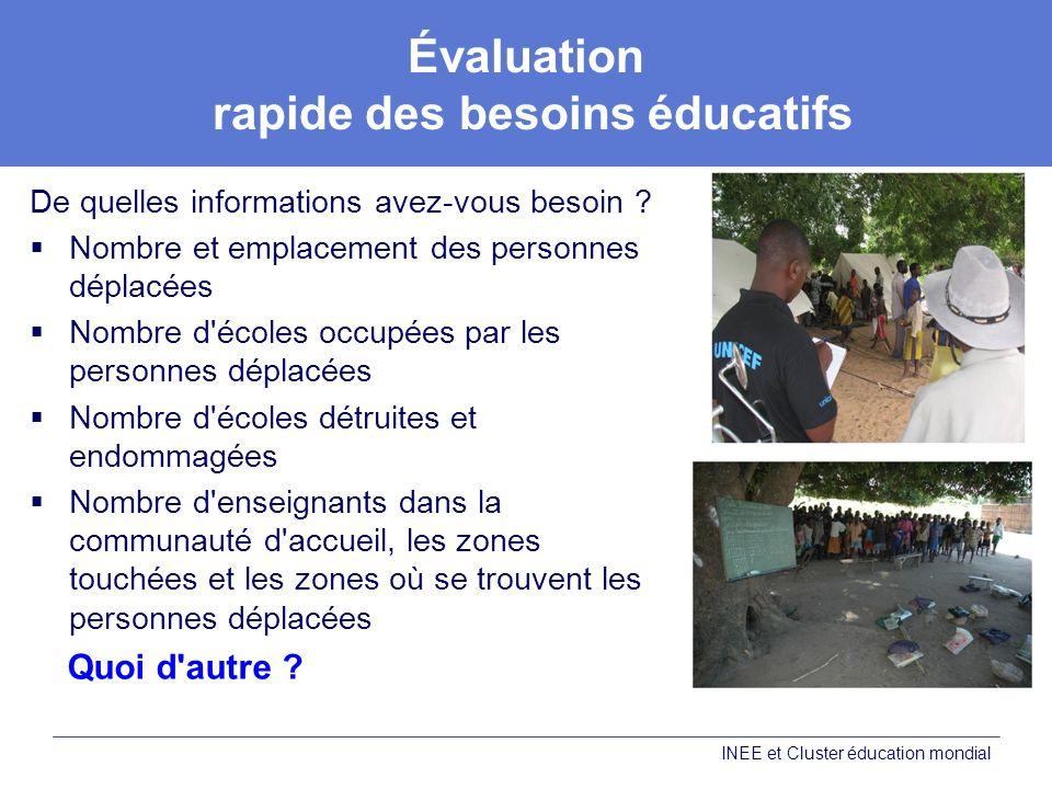 Évaluation rapide des besoins éducatifs