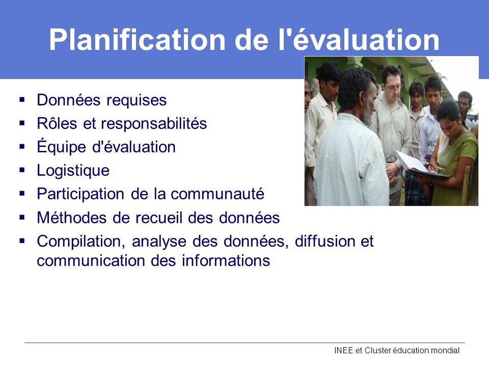Planification de l évaluation