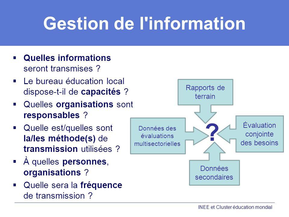 Gestion de l information