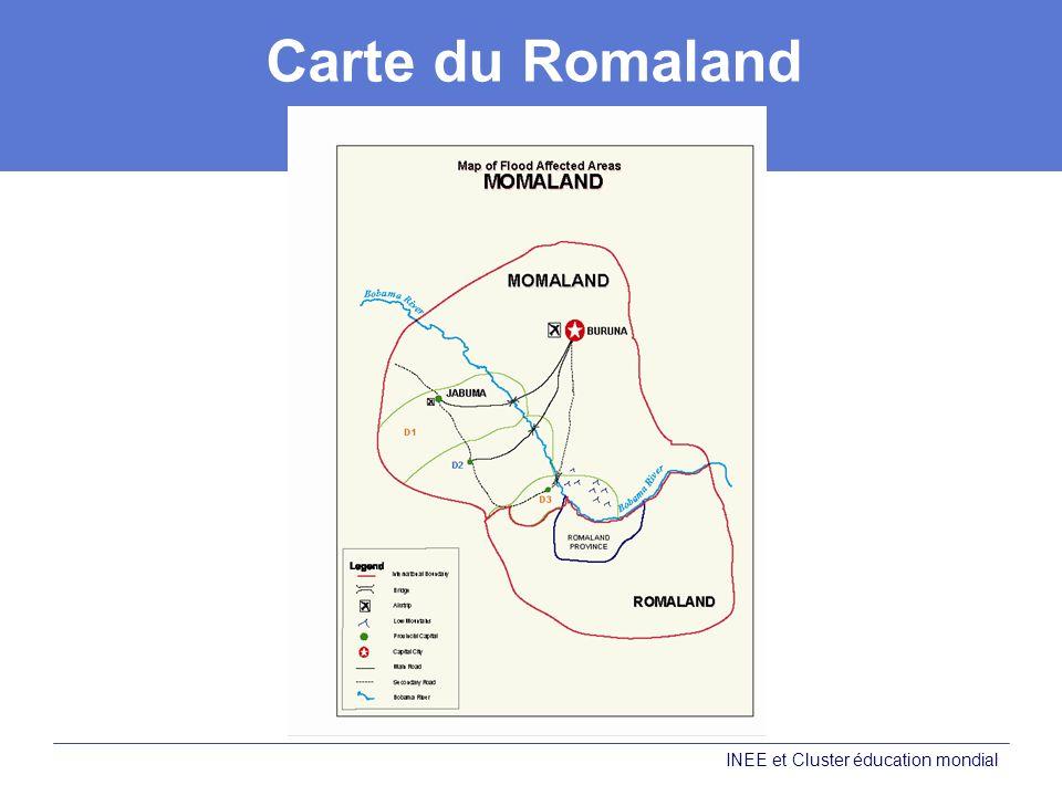 Carte du Romaland Carte des zones touchées par les inondations