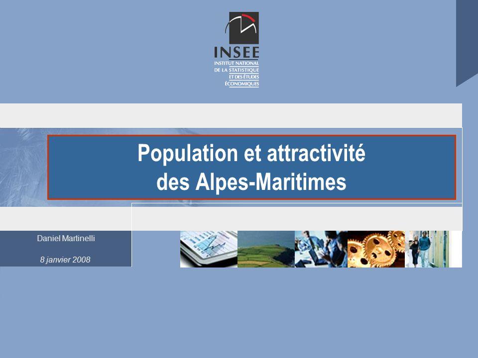 Population et attractivité des Alpes-Maritimes