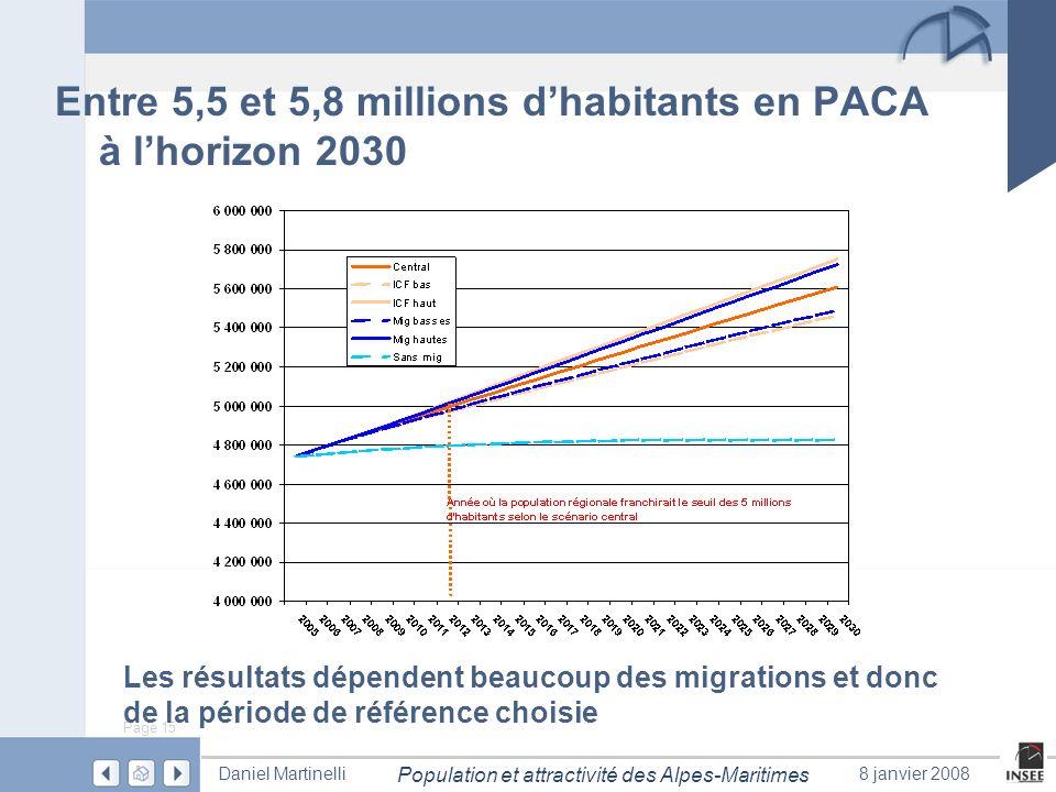 Entre 5,5 et 5,8 millions d'habitants en PACA à l'horizon 2030