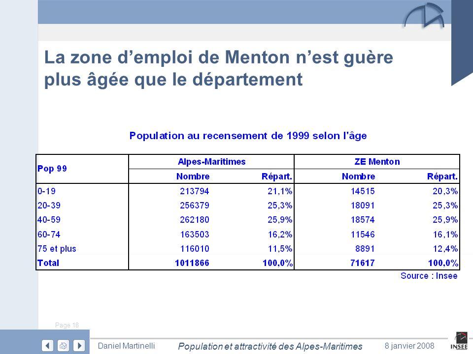 La zone d'emploi de Menton n'est guère plus âgée que le département