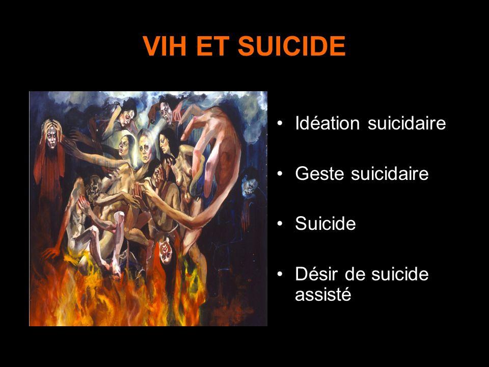 VIH ET SUICIDE Idéation suicidaire Geste suicidaire Suicide