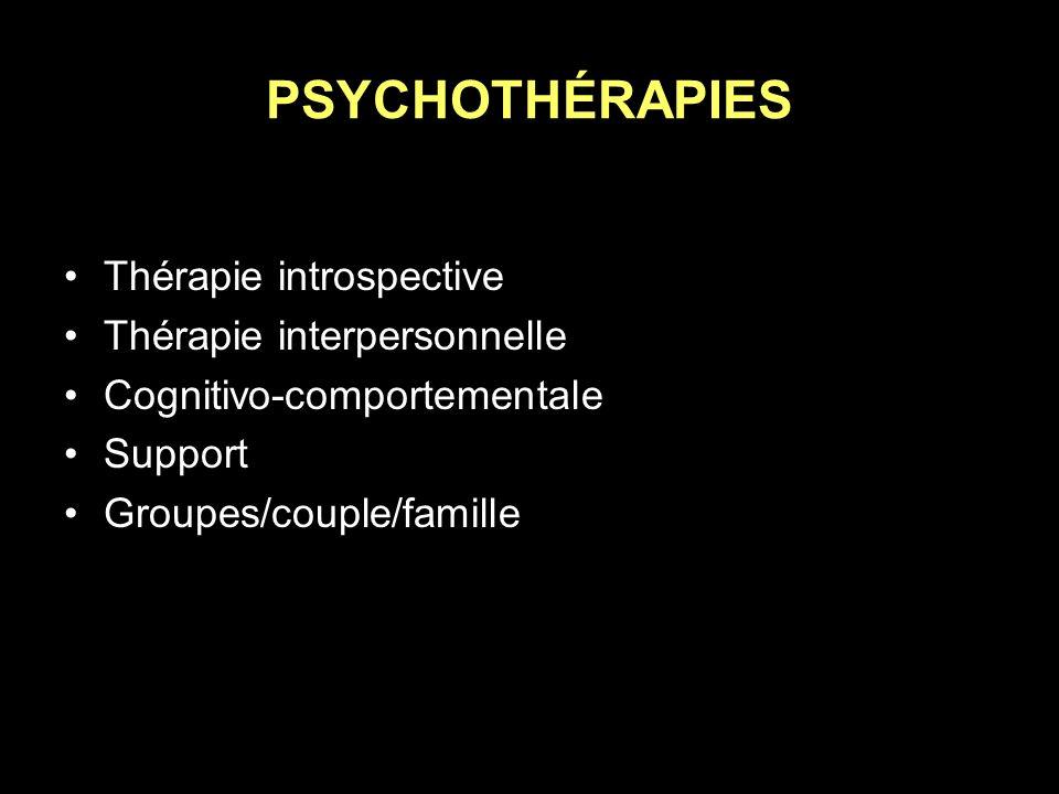 PSYCHOTHÉRAPIES Thérapie introspective Thérapie interpersonnelle